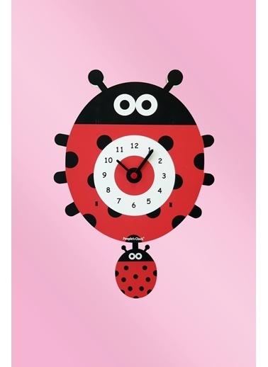 Peoples Clock Uğur BöceğiSallanan Sarkaçlı Çocuk Odası Duvar Saati Renkli